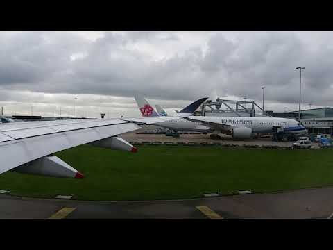 Singapore airlines A350-900 taxi and takeoff @Schiphol airport