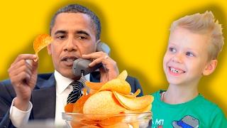 КАК СДЕЛАТЬ ЧИПСЫ СВОИМИ РУКАМИ в микроволновке в домашних условиях с Бараком Обамой