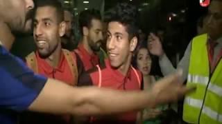 اتوبيس النادى الاهلى يغادر ملعب السلام عقب مباراة الترسانة بكأس مصر