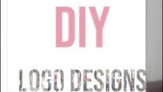 HOW TO create your own LOGO for FREE from your phone! BEGINNER FRIENDLY #GirlBossEdition