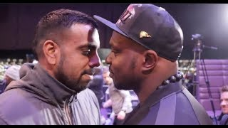 BEEF! - DILLIAN WHYTE v KUGAN CASSIUS - HEAD TO HEAD @ PRESS CONFERENCE (JAMAICA v SRI LANKA)