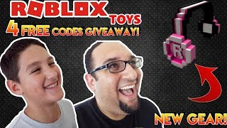 Roblox GOLD Mystery Boxes Item Codes | Hot Pink 8-bit Headphones!! | FREE CODE GIVEAWAY!!! (DONE)