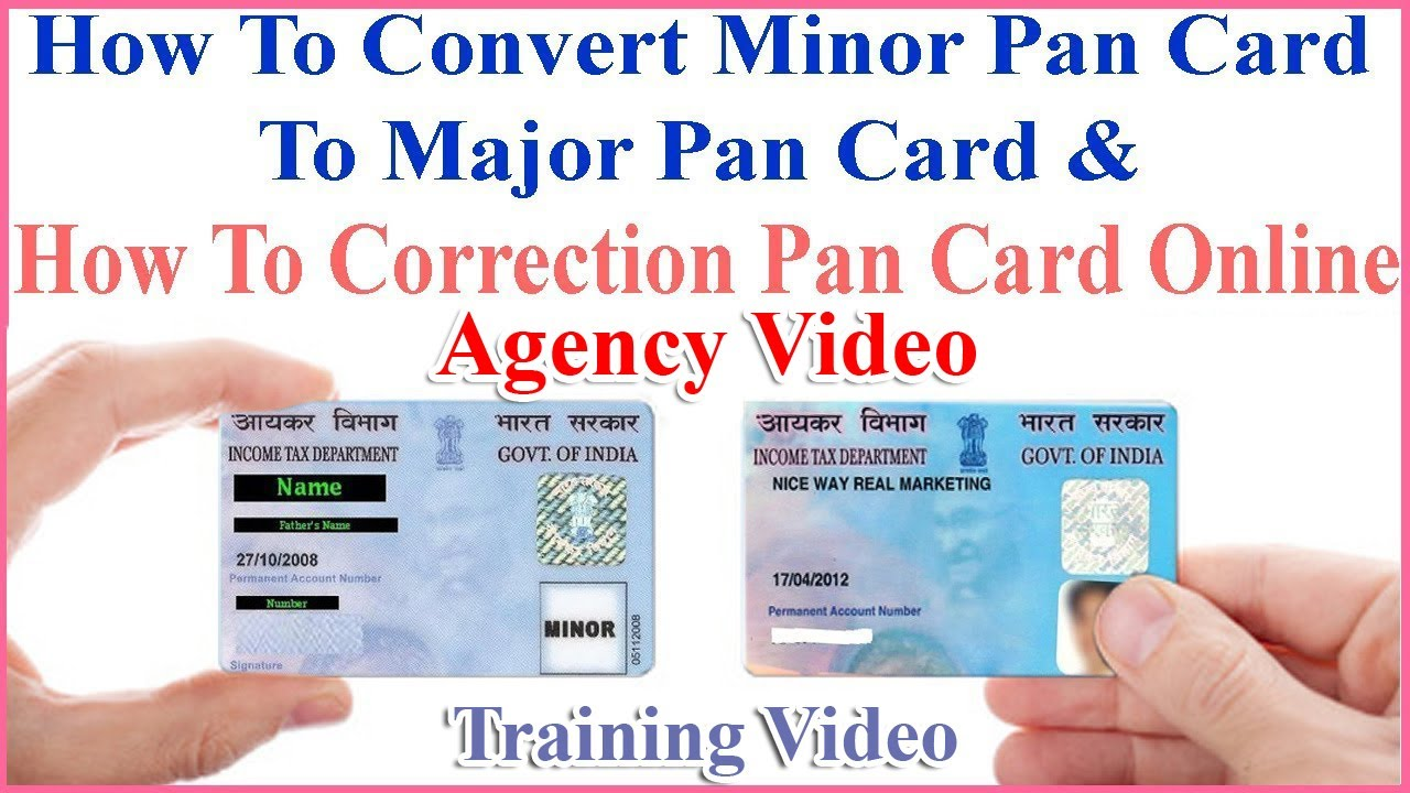how to apply pan correction  how to convert minor pan