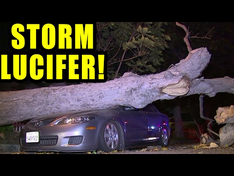CRAZY CALIFORNIA FLOODING LUCIFER STORM! (PACIFIC STORM FLOOD DAMAGE)