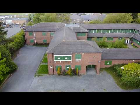 Abandoned Care Home, Albany House, Washington, Tyne and Wear, UK DJI mini mavic drone