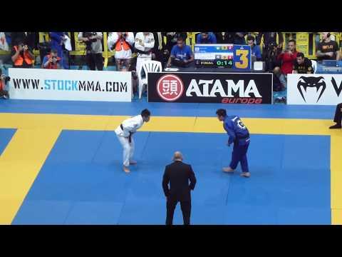 Caio Terra vs Koji Shibamoto - FINAL - IBJJF European Open 2016 - Black Adult - Rooster