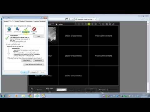 Configuring Internet Explorer For A Cctv System