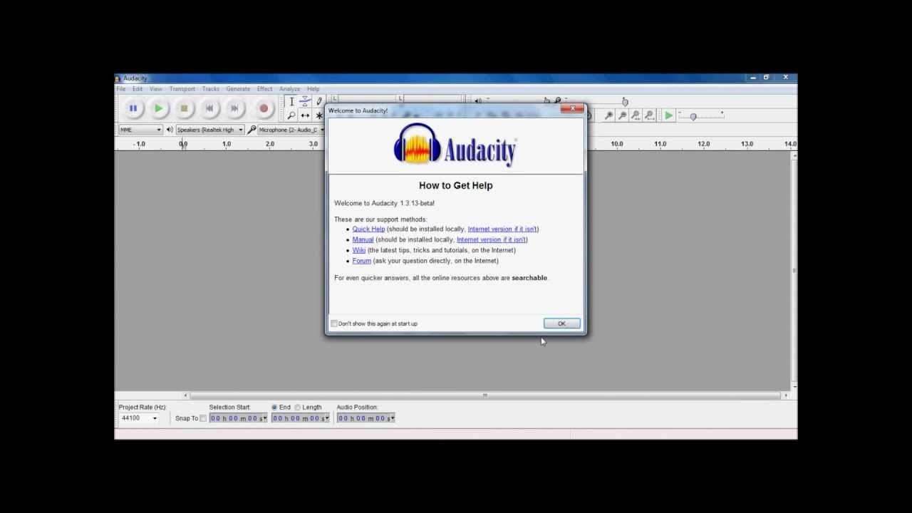 Audacity Tutorial Part 1 Youtube Snap Circuits Xp Control With Your Computer