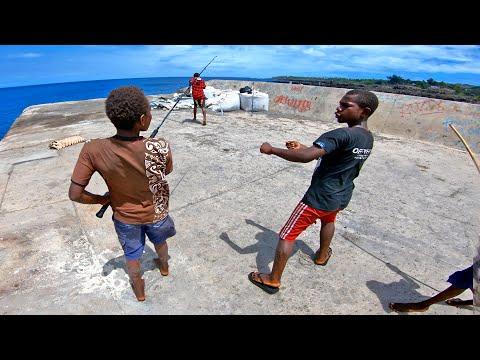 Teaching Island Kids How To Fight Fish