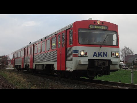 AKN VT2E LHB VTE Altona Kaltenkirchen Neumünster Eisenbahn AG BJ 1976 Sound