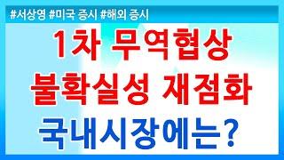 [키움증권] 서상영의 모닝노트 / 1차 무역협상 불확실…