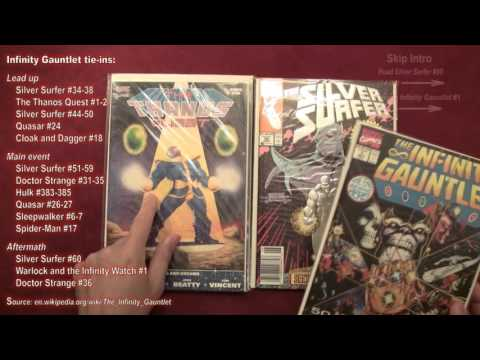 Reading Comics: Silver Surfer #50, Infinity Gauntlet #1, Thanos, Avengers, Marvel, 1991 [ASMR]