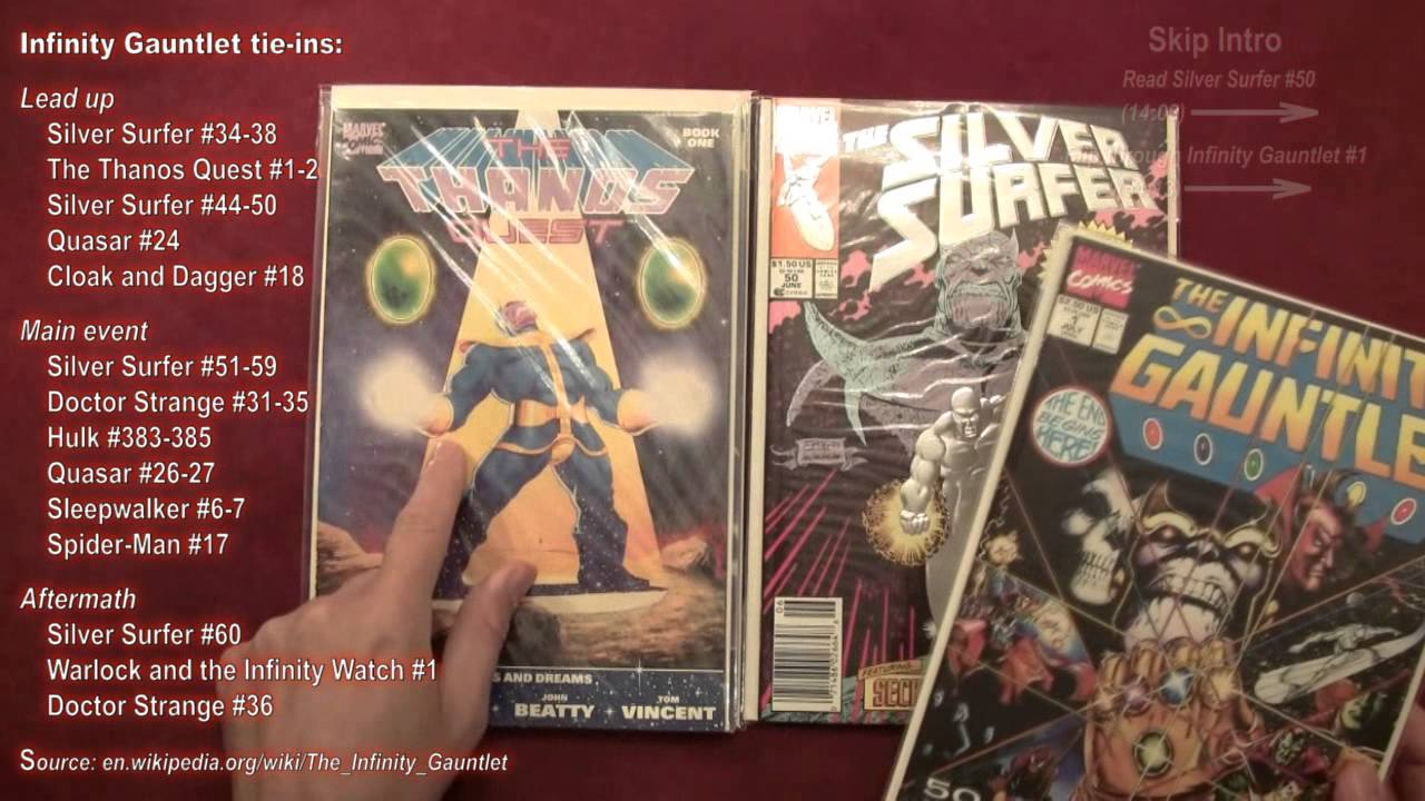 reading comics silver surfer 50 infinity gauntlet 1 thanos
