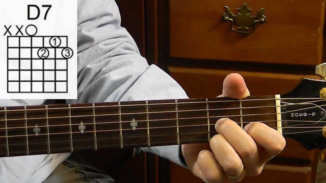 the d7 chord how to play basic guitar chords guitar for beginners youtube. Black Bedroom Furniture Sets. Home Design Ideas