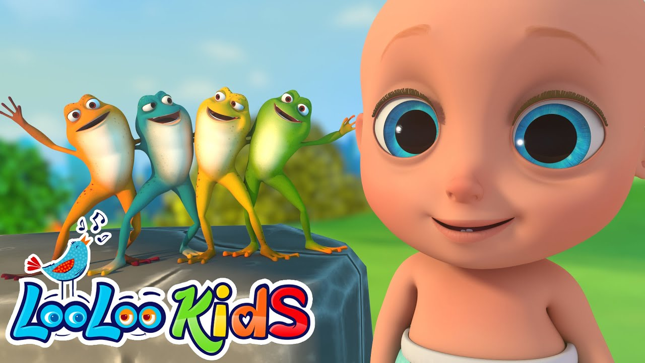The Little Green Frog - Fun Songs for Children | LooLoo Kids