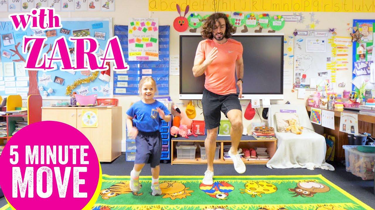 5 Minute Move Featuring Zara | The Body Coach TV - YouTube