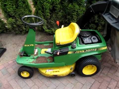John Deere Riding Lawnmower Rx75