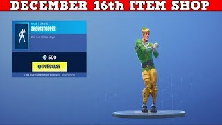 Fortnite Item Shop (December 16th) | This *NEW* Emote Is A Showstopper!