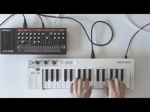 Random arpeggiator ambient // Roland JX-03 + Arturia KeyStep