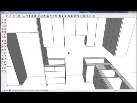 fusion 3d sketchup logiciel de cuisine pro gratuit youtube. Black Bedroom Furniture Sets. Home Design Ideas
