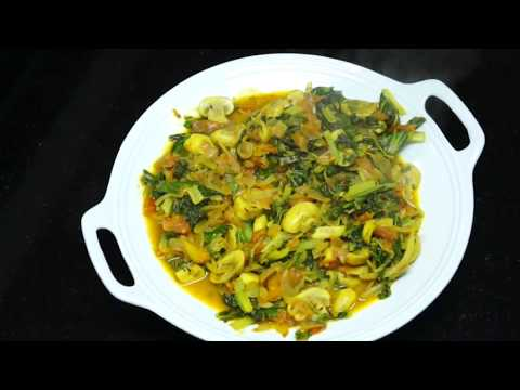 ⏰ How To Cook Spinach Mushroom Curry - Spinach Curry - Mushroom Curry - Vegan Indian Masala - Saag