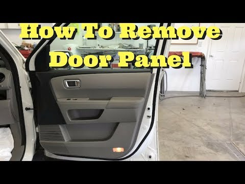2009 2010 2011 2012 2013 2014 2015 Honda Pilot How to Remove Front Door Panel Removal Take Off