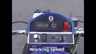 видео Разметочная машина Graco LineLazer Hydraulic (LL IV-200 HS INTL)