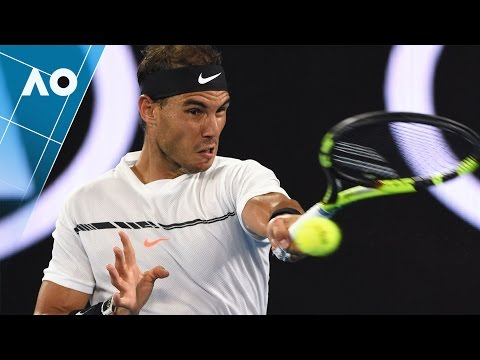 Nadal's insane winner v Federer (Final) | Australian Open 2017