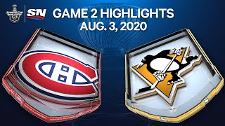 NHL Highlights   Canadiens vs. Penguins, Game 2 - Aug. 3, 2020