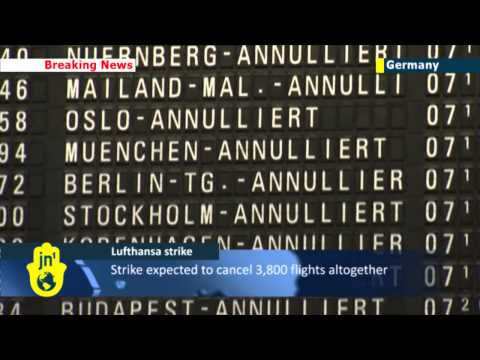 Lufthansa Strike Causes Travel Chaos: 3,800 flights to be cancelled due to German airline strike