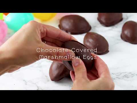 How To Make Homemade Chocolate Covered Marshmallow Eggs