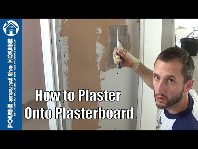 How to plaster a plasterboard wall, beginners guide. Plastering made easy for the DIY enthusiast!