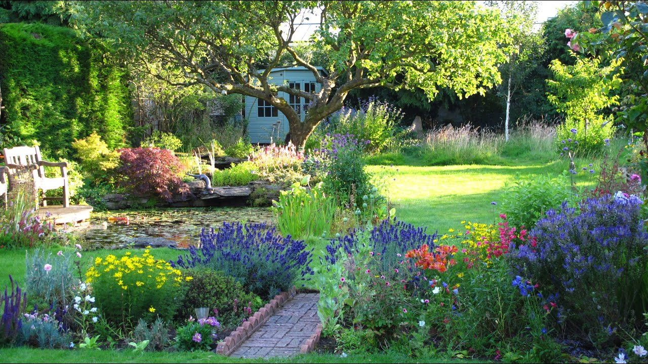 country cottage and gardens