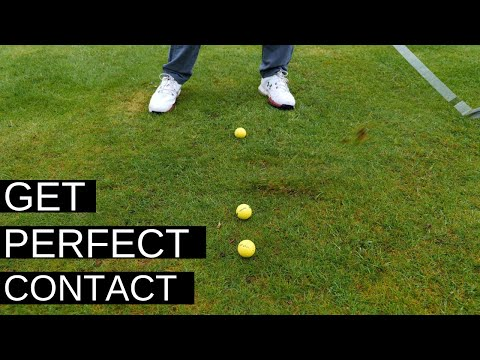 HIT THE GOLF BALL FIRST – THE EASY SWING DRILL