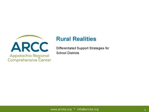 Rural Realities: Differentiated Support Strategies for School Districts (July 30, 2013)
