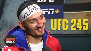 Max Holloway not getting down after loss to Alexander Volkanovski | UFC 245 | ESPN MMA