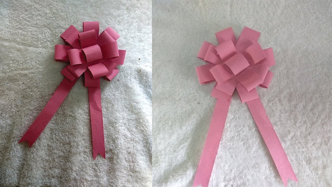 Diy Easy Paper Bow Gift Wrap How To Make Paper Flower