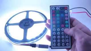 RGB Контроллер 44 кнопки, мини(RGB контроллер для светодиодной ленты 44 кнопки. Инфракрасный с мини приемником. Прочитать подробнее или..., 2014-05-27T19:48:40.000Z)