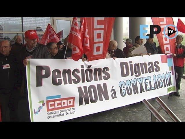 """Decenas de persoas maniféstanse en Lugo por unhas """"pensións dignas"""""""