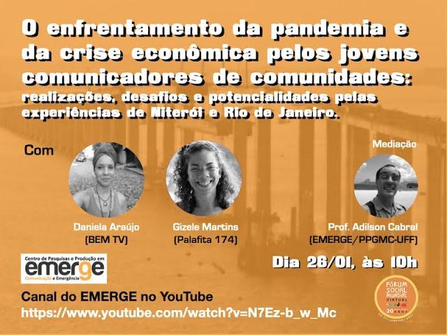 Evento sobre ativismo midiático jovem em tempos de crise já está disponível na internet