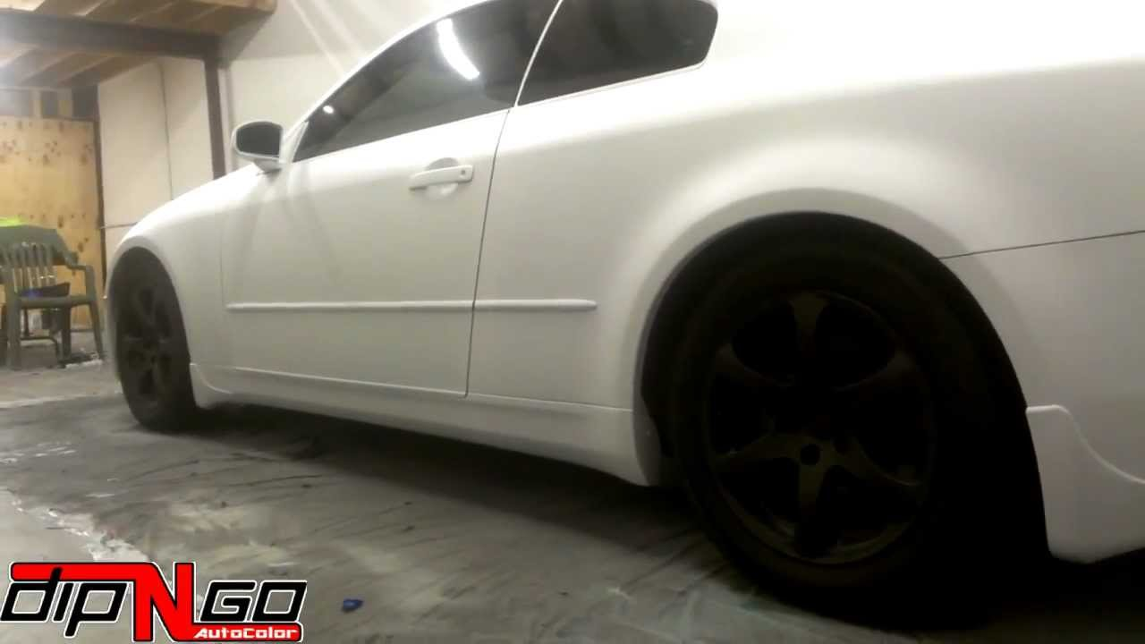 Infiniti g35 automobile flat white plasti dip youtube vanachro Choice Image