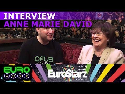 Anne Marie David interview (Eurovision Winner - Luxembourg 1973) | #EurostarzInConert #Eurovoxx