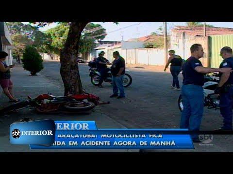 Araçatuba: motociclista fica ferida em acidente agora de manhã