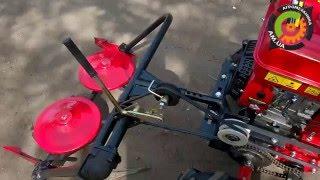 Мотоблок Forte HSD1G 1050G 10 в работе с косилкой роторной и ходоуменьшителем(Приобрести Мотоблок Forte HSD1G 1050G 10