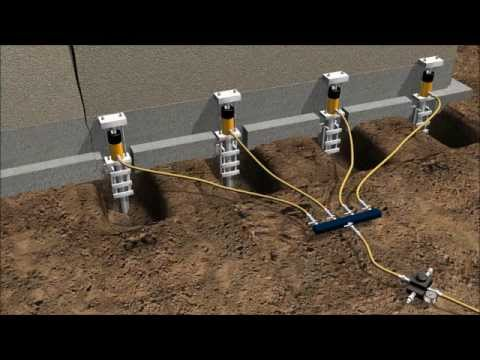 Foundation repair using push piers youtube foundation repair using push piers solutioingenieria Gallery
