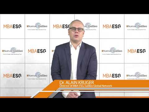 Why MBA ESG? - Alain KRUGER, Director