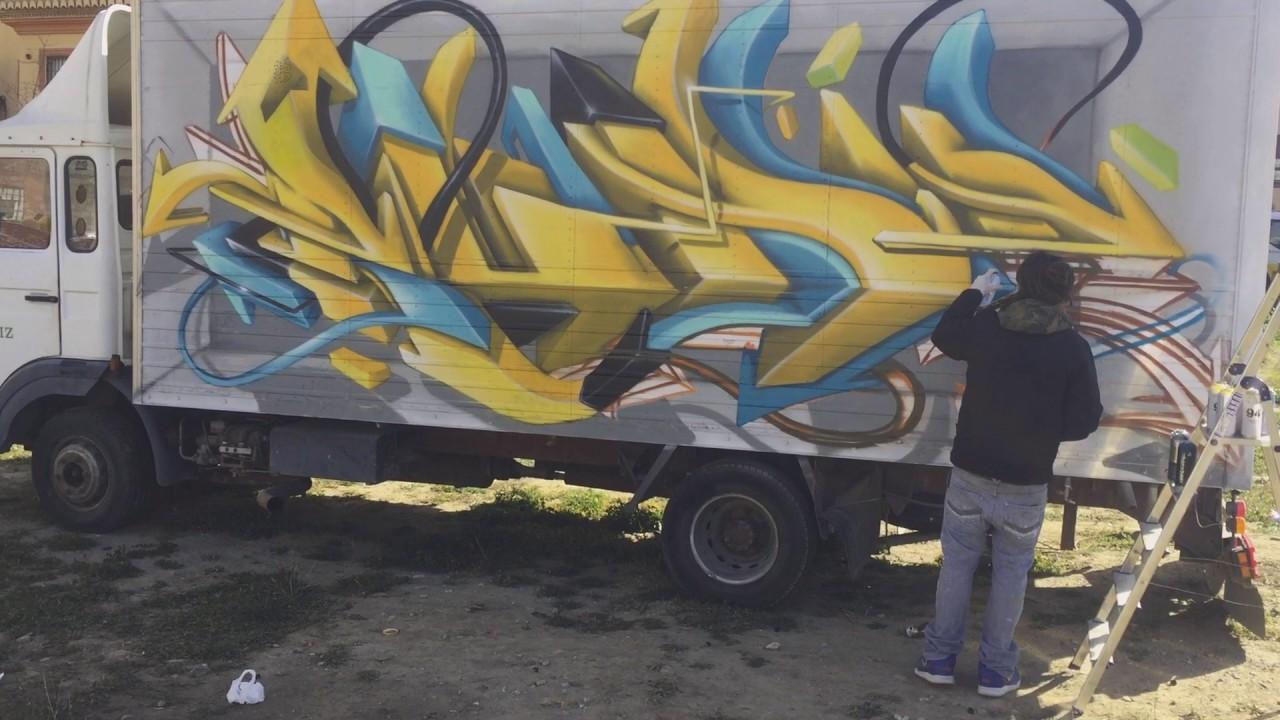 Graffiti 3d truck rudiart tv rudi art