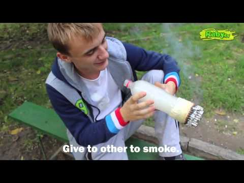 Jackass in Moldova   He smokes 100 cigarettes