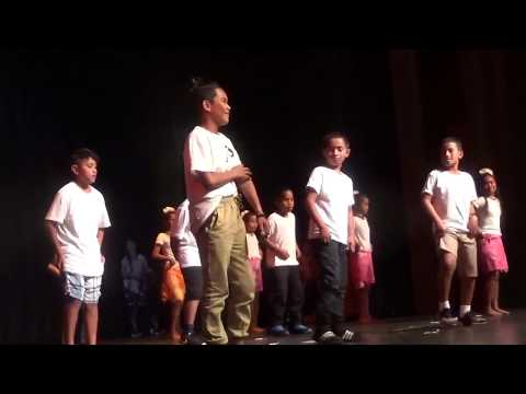 Marshallese students at Waimea Elementary School talent show dancing to Tuvalu Song