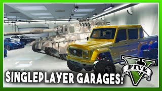 SINGLE PLAYER GARAGES MOD! (Unlimited Storage, Customization, & More!) - GTA 5 PC MODS